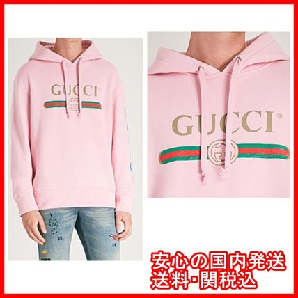GUCCI Hoodies Pullovers Unisex Street Style Long Sleeves Cotton Hoodies 3