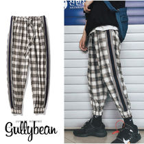 Other Check Patterns Street Style Cotton Bottoms