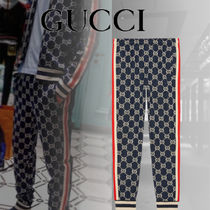 GUCCI Printed Pants Street Style Cotton Patterned Pants