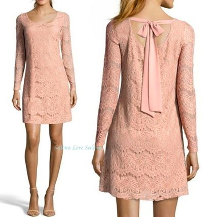 Long Sleeves Party Style Lace Dresses