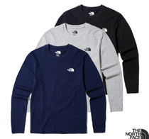 THE NORTH FACE Unisex Long Sleeves Plain Cotton Long Sleeve T-Shirts
