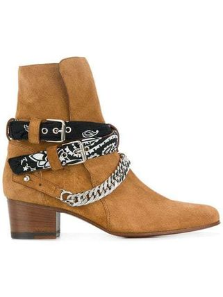 Casual Style Suede Street Style Mid Heel Boots