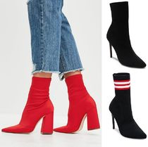 Steve Madden Casual Style Blended Fabrics Pin Heels Ankle & Booties Boots