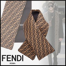 FENDI Monogram Wool Blended Fabrics Accessories