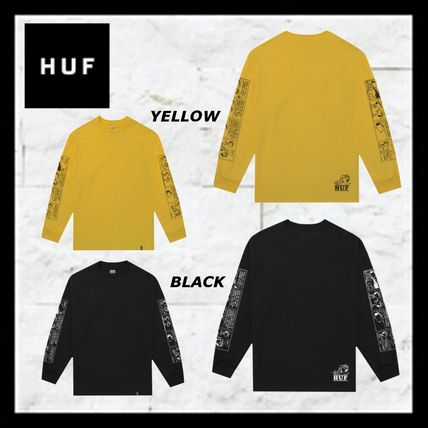 HUF Long Sleeve Crew Neck Unisex Street Style Collaboration Long Sleeves