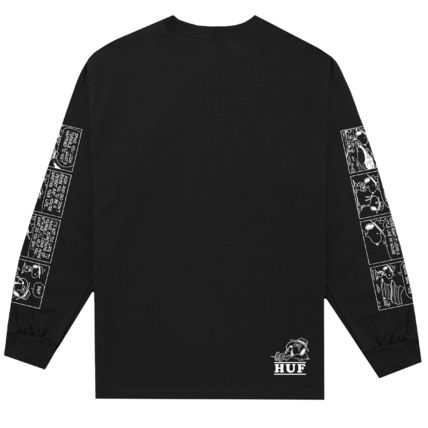 HUF Long Sleeve Crew Neck Unisex Street Style Collaboration Long Sleeves 3