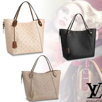 Louis Vuitton MAHINA 2WAY Leather Elegant Style Totes