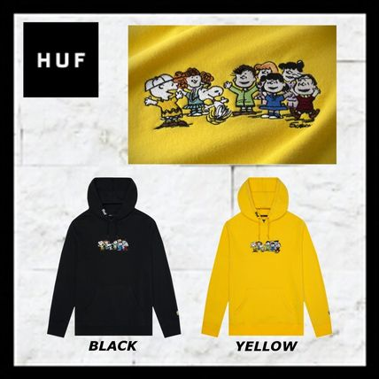 HUF Hoodies Pullovers Unisex Street Style Collaboration Long Sleeves