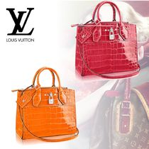 Louis Vuitton Crocodile 2WAY Plain Elegant Style Totes