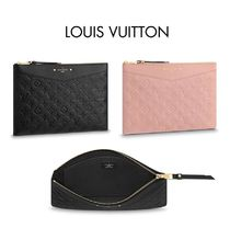 Louis Vuitton Monogram Bag in Bag Leather Elegant Style Clutches