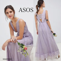 ASOS Flower Patterns Dots Maxi Sleeveless V-Neck Home Party Ideas