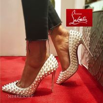 Christian Louboutin Studded Pin Heels Pointed Toe Pumps & Mules