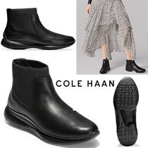 Cole Haan Plain Toe Rubber Sole Blended Fabrics Plain Leather