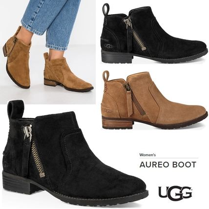 UGG Australia Ankle & Booties Plain Toe Rubber Sole Suede Plain Ankle & Booties Boots