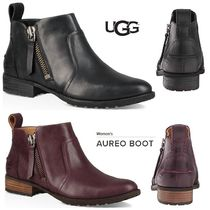 UGG Australia Plain Toe Rubber Sole Plain Leather Ankle & Booties Boots