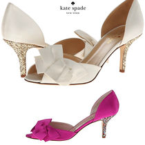 kate spade new york Open Toe Plain Party Style Peep Toe Pumps & Mules