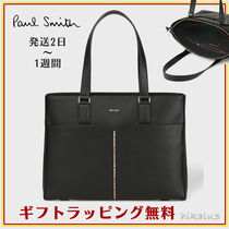 Paul Smith Stripes A4 Plain Leather Totes