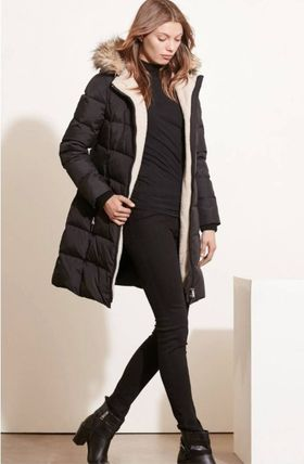 Ralph Lauren Down Jackets Faux Fur Plain Long Down Jackets 4