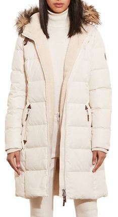 Ralph Lauren Down Jackets Faux Fur Plain Long Down Jackets 10