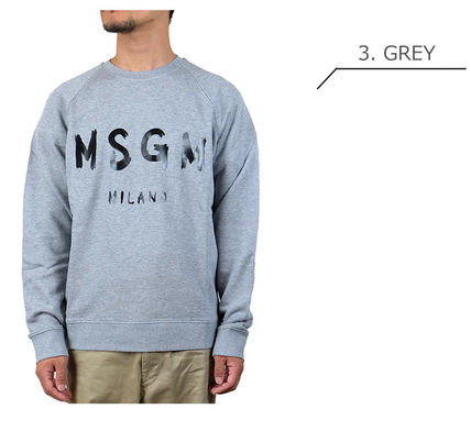 MSGM Sweatshirts Crew Neck Pullovers Long Sleeves Cotton Sweatshirts 10