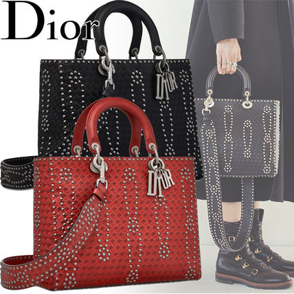 ce81f245245 ... Christian Dior Handbags Flower Patterns Blended Fabrics Studded Street  Style 3WAY ...