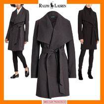 Ralph Lauren Plain Medium Elegant Style Coats