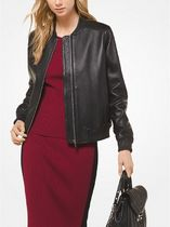 Michael Kors Plain Leather Medium Biker Jackets