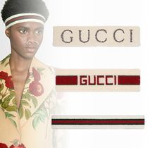 GUCCI Stripes Unisex Street Style Plain Accessories