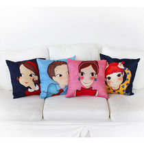 YOUKSHIMWON Plain Characters Decorative Pillows