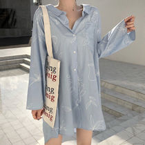 Casual Style Street Style Long Sleeves Cotton Long Oversized