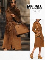 Michael Kors Suede Medium Trench Coats