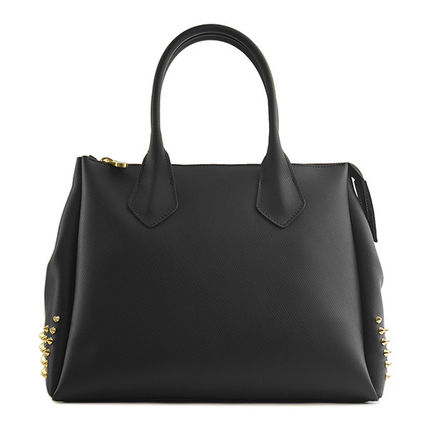 Casual Style Studded Plain Totes