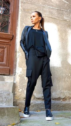 Aakasha Wool Plain Long Handmade Sarouel Pants