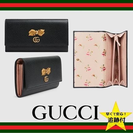 purchase cheap 4f7df 7efb2 GUCCI Flower Patterns Leather Long Wallets (524286 CAOXT 1163)