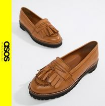 ASOS Casual Style Tassel Leather Loafer Pumps & Mules