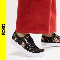 ASOS Flower Patterns Casual Style Low-Top Sneakers