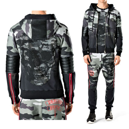 Star Camouflage Street Style Long Sleeves Cotton