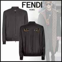 FENDI Short Street Style Plain With Jewels Jackets