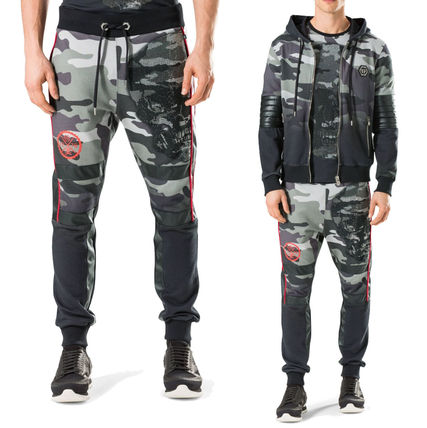 Skull Camouflage Street Style Cotton Joggers & Sweatpants