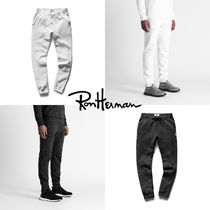 Ron Herman Unisex Sweat Plain Handmade Cropped Pants