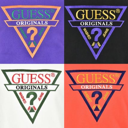 Guess Sweatshirts Crew Neck Unisex Street Style Long Sleeves 10