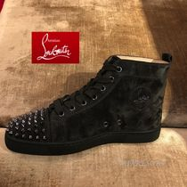 Christian Louboutin LOUIS Suede Studded Sneakers
