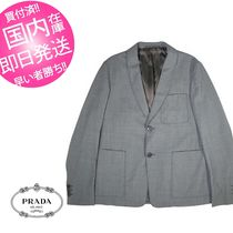 PRADA Wool Plain Blazers Jackets