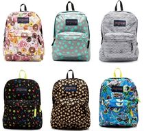 jansport Zebra Patterns Heart Casual Style Unisex Nylon Street Style