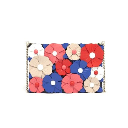 kate spade new york Shoulder Bags Flower Patterns Casual Style Leather Shoulder Bags