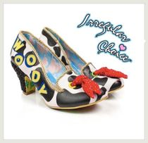 Irregular Choice Round Toe Casual Style Street Style Other Animal Patterns