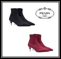 PRADA Casual Style Plain Ankle & Booties Boots