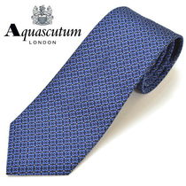 Aquascutum Flower Patterns Silk Ties
