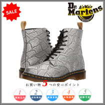 Dr Martens Other Check Patterns Platform Round Toe Lace-up Casual Style