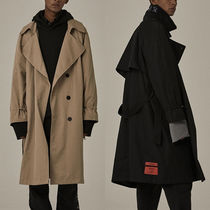 OVERR Street Style Plain Long Oversized Trench Coats